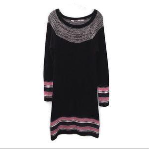 Athleta Nordic Fair Isle Knit Sweater Midi Dress